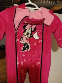 red and white Minnie Mouse footie pajama Terrebonne, J6X 4K7