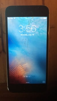 iPhone 6, 16gb. Screen is cracked but phone works great. Ottawa, K1T