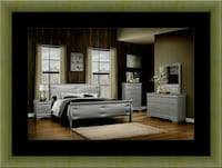 11pc Grey Marley bedroom set with mattress  Alexandria, 22306