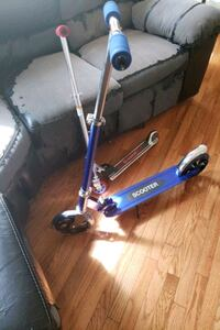 1 adult kick scooter and 1 kid kick scooter t