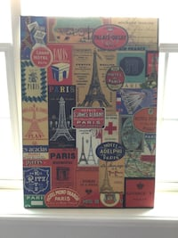 Palais Orsay Paris collage. 27 by 19 1/2 inches