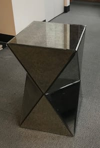 West Elm Faceted Mirrored Side Table