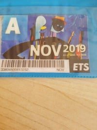 November bus pass Edmonton, T5A