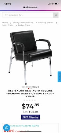 Auto Recline Salon Chair Dumfries, 22025