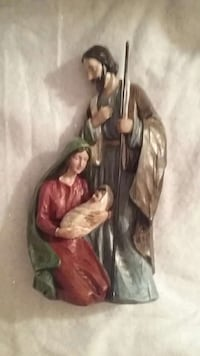 NATIVITY scene ceramic figurine.