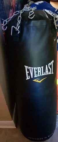 black and white Everlast heavy bag Barrie, L4M