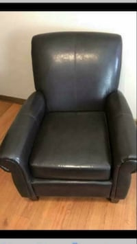 Brand New Espresso Faux Leather Club Chair