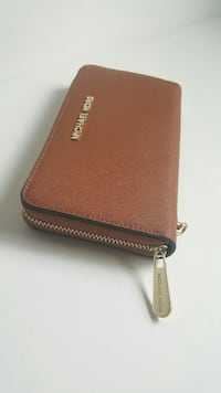 brown Michael Kors leather long wallet