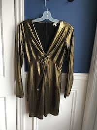Longsleeve gold dress Large Chambly, J3L