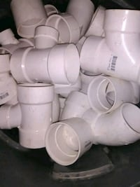 "white 3"" piping elbows and T's Kansas City, 64127"