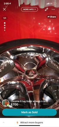 chrome 5-spoke car wheel with tire Baltimore, 21237