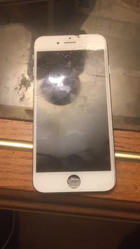 Silver iphone 6 with cracked screen has to get fixed  377 mi