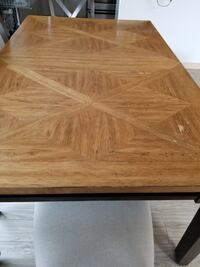 Wooden extendable dining table with 4 chairs Bothell