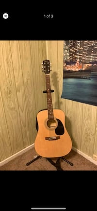 Squier guitar acoustic w stand  Red Lion, 17356