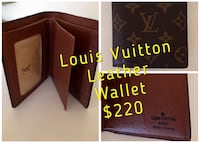 Louis vuitton leather wallet