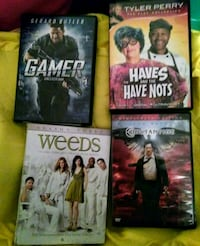 DVD movies.  all 4 for 5 Macon, 31216