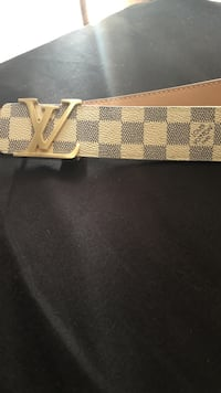 brown and black Louis Vuitton leather belt Pflugerville, 78660