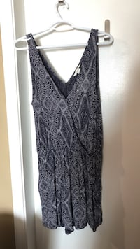 Large navy romper used once
