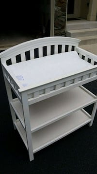 white wooden 3-layer changing table Frederick, 21702