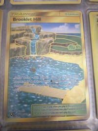 Brooklet Hill Gold Trainer Pokemon Card