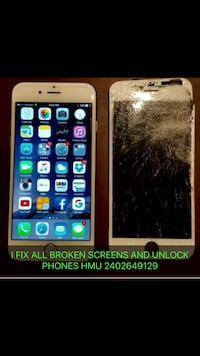 I fix all broken phones iphone 4,4s,5,5c,5s,6,6+,6s,6sq+,7,7+,8,8+,x and all samsung phones repairs College Park