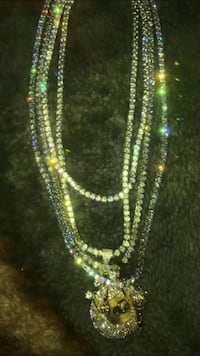 silver and diamond studded necklace Rockville, 20850
