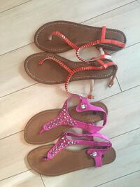 two pairs of assorted color sandals Toronto