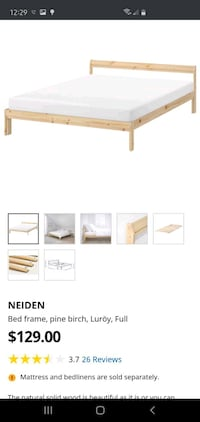Full size bed, night stand dresser