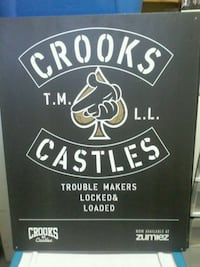 Crooks Castles trouble makers wall art Midland, L4R