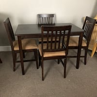 rectangular brown wooden table with four chairs dining set San Antonio, 78223