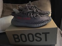 Pair of gray adidas yeezy boost 350 v2 with box Deer Park, 77536
