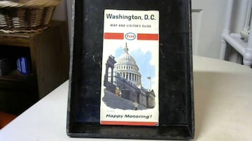 Vintage Map of Washington D.C. and other maps