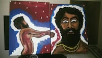 This is America original painting 2 piece set  Gainesville
