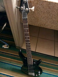 black 4-string bass guitar Denver, 80207