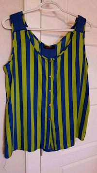 women's red and blue striped tank top Calgary, T3N 0E4