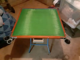 Kid s folding game table