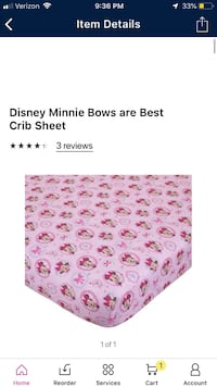 Minnie Mouse crib sheet  Simpsonville, 29681