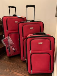 Travellers Club Genova 3pc Luggage Set Red - New. $100.00 Toronto, M8V 1X6