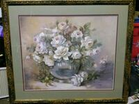 brown wooden framed painting of white petaled flowers North Augusta, 29841
