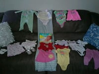 **19 CARTER'S 0-3 Months**Girls, shoes NEW diapers Tulsa, 74133