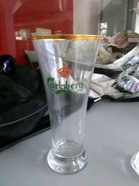 Two Carlsberg beer glasses Toronto, M5V 2N8