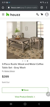 Farmhouse coffee table and side table set