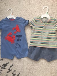 Baby boy rampers, size 12mo and 12-18 months old  Mississauga, L5A 2T8