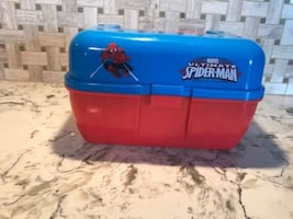 SPIDER-MAN KIDS TACKLE BOX - AS IS (MISSING LATCH) - FJN
