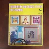 Embroidery and Cross-stitch for Framing art craft book