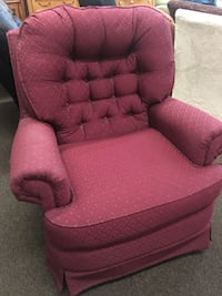 Rocker upholstered burgundy accent chair in great condition Durham, 27560