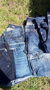 two blue denim jeans and two denim bottoms Calgary, T3J 4W2