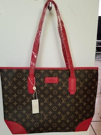 black and red Louis Vuitton leather tote bag Sacramento, 95823