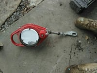 round gray and red metal attachment with lobster lock Noblesville, 46060