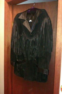 Ladies leather jacket approx size 1x Yorkton